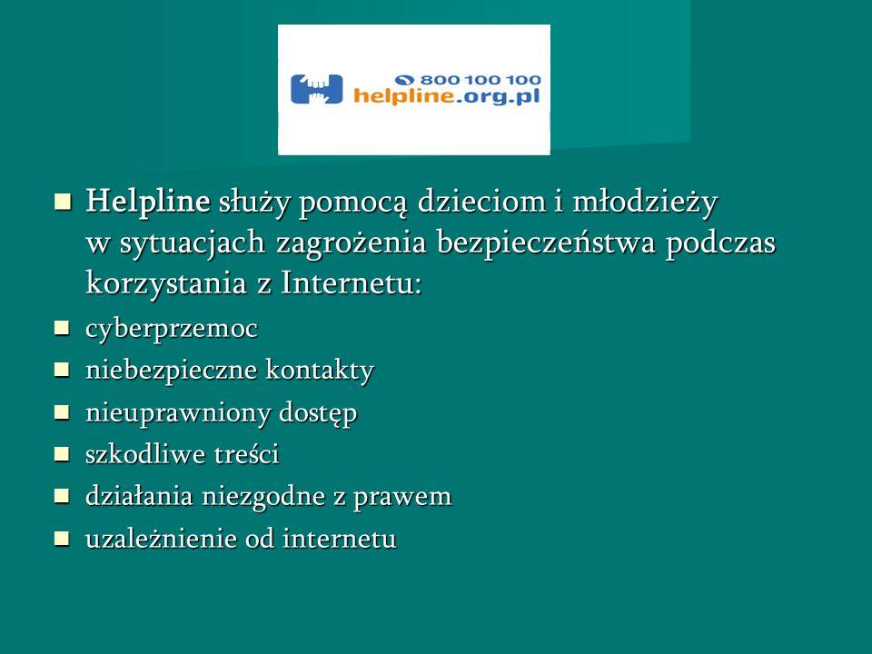 Helpline służy pomocą dzieciom i młodzieży w sytuacjach zagrożenia bezpieczeństwa podczas korzystania z Internetu: Helpline służy pomocą dzieciom i mł