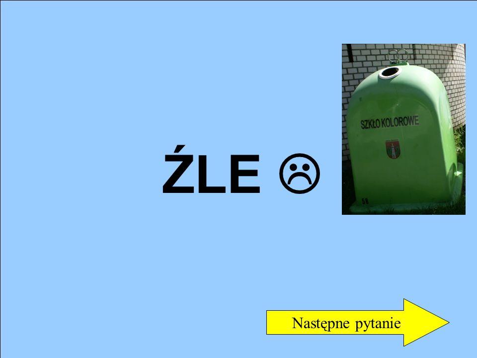 3. Do jakiego pojemnika wrzucamy makulaturę? a) Do białego c) Do niebieskiego b) Do zielonego