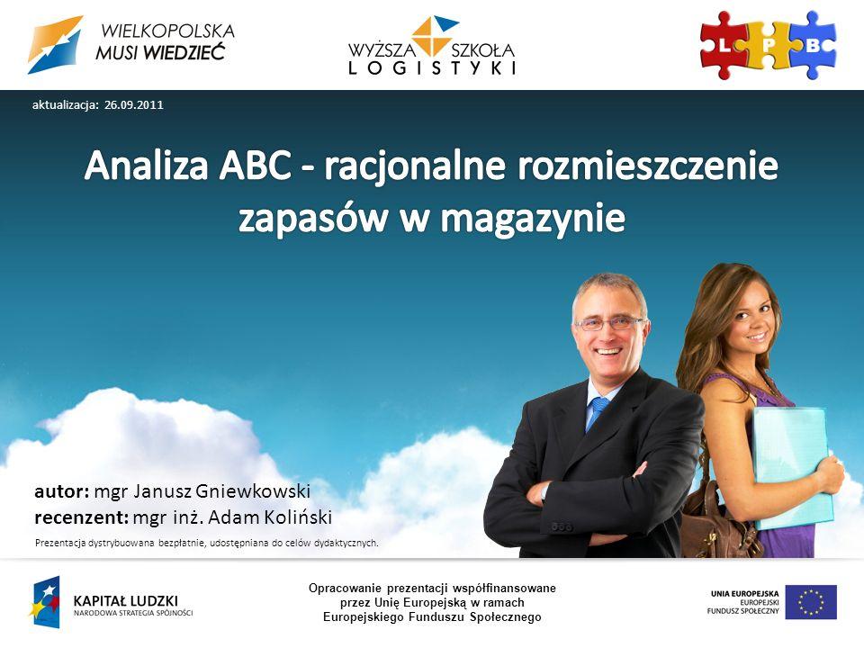 autor: mgr Janusz Gniewkowski recenzent: mgr inż. Adam Koliński Opracowanie prezentacji współfinansowane przez Unię Europejską w ramach Europejskiego
