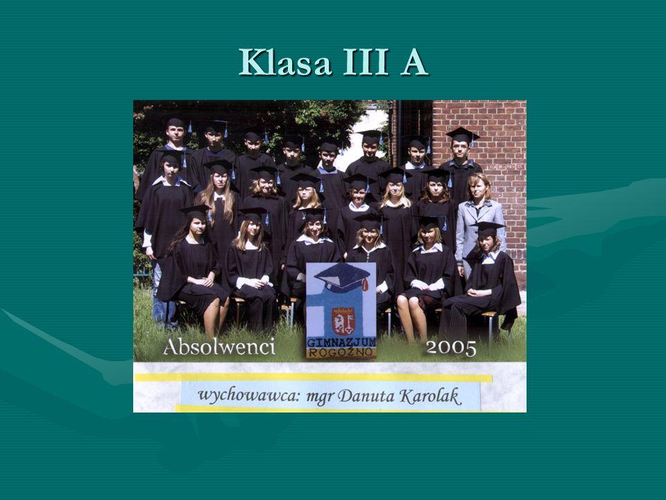 Klasa III A