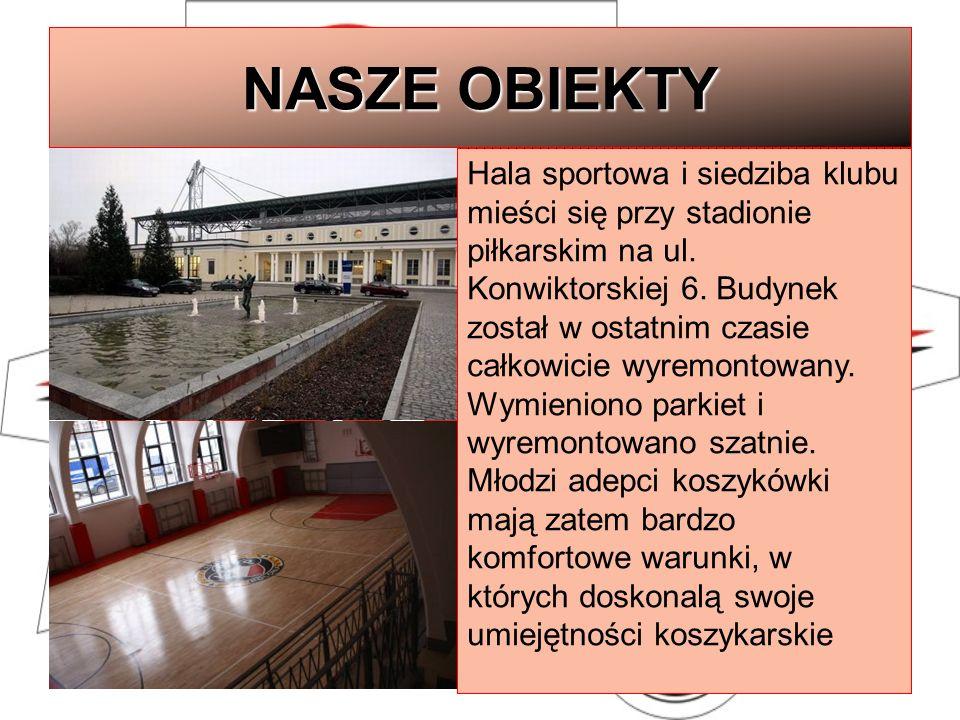 NASZE OBIEKTY Hala sportowa i siedziba klubu mieści się przy stadionie piłkarskim na ul. Konwiktorskiej 6. Budynek został w ostatnim czasie całkowicie