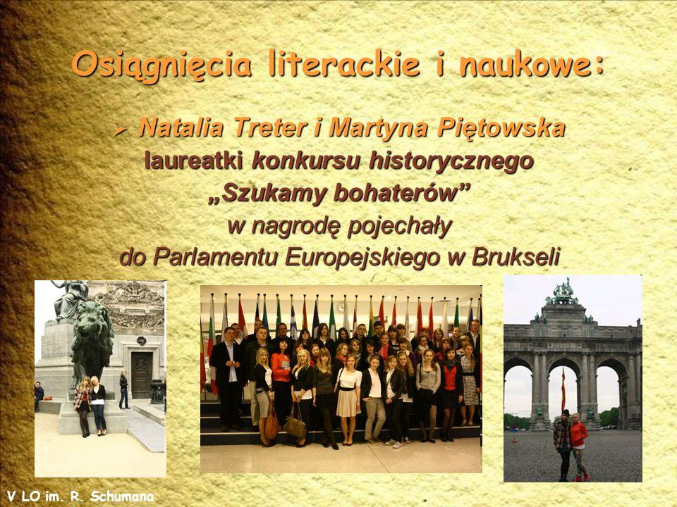 Osiągnięcia literackie i naukowe: Stypendium Prezesa Rady Ministrów w roku 2012 otrzymała Joanna Bugaj.