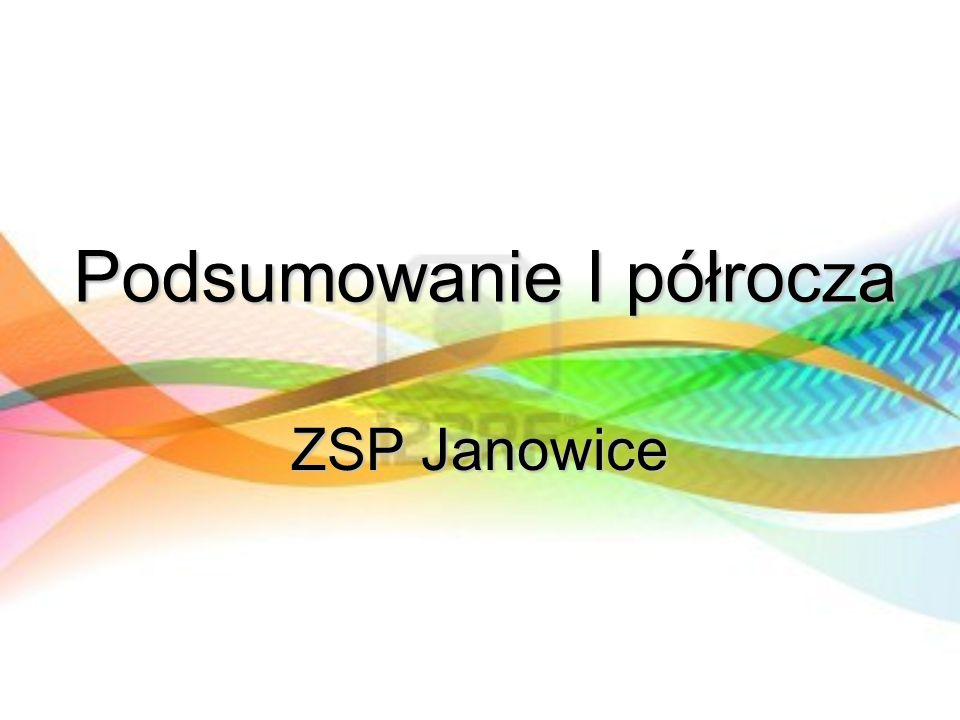 Podsumowanie I półrocza ZSP Janowice