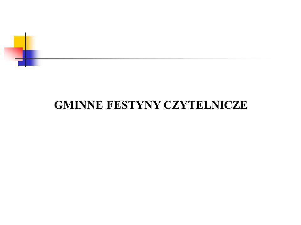 GMINNE FESTYNY CZYTELNICZE