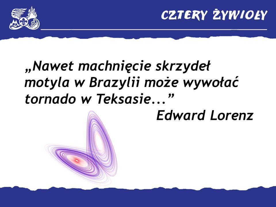 Nawet machnięcie skrzydeł motyla w Brazylii może wywołać tornado w Teksasie... Edward Lorenz