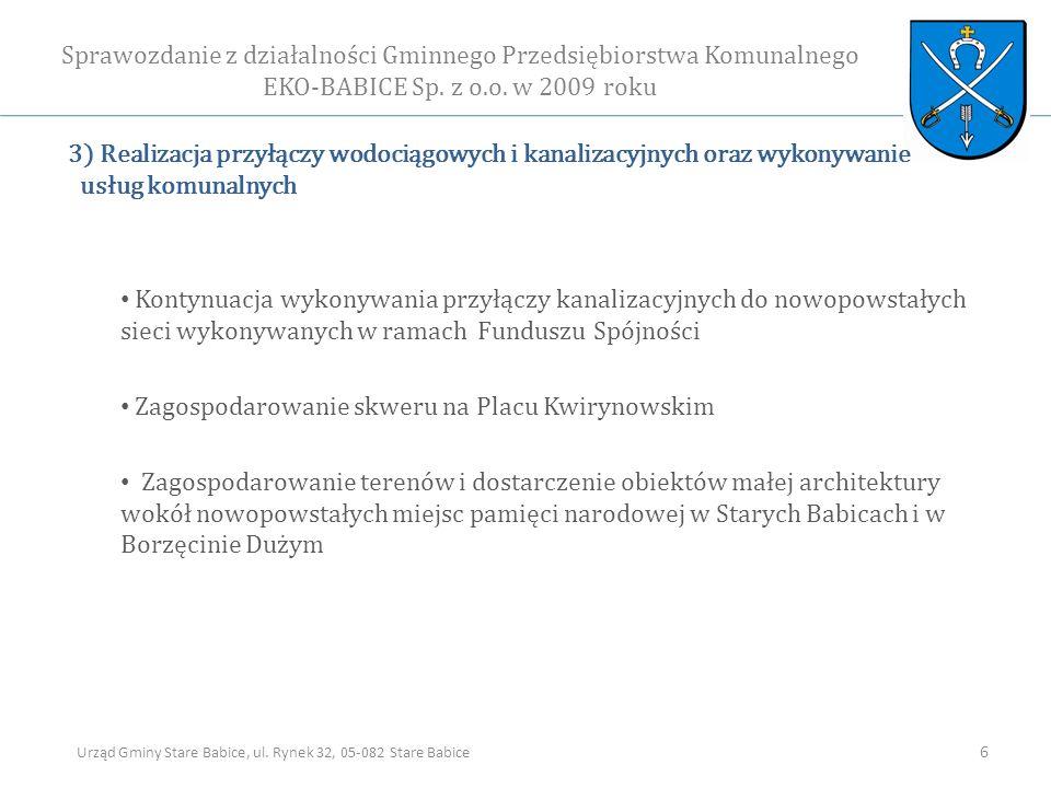 Sprawozdanie z działalności Gminnego Przedsiębiorstwa Komunalnego EKO-BABICE Sp.