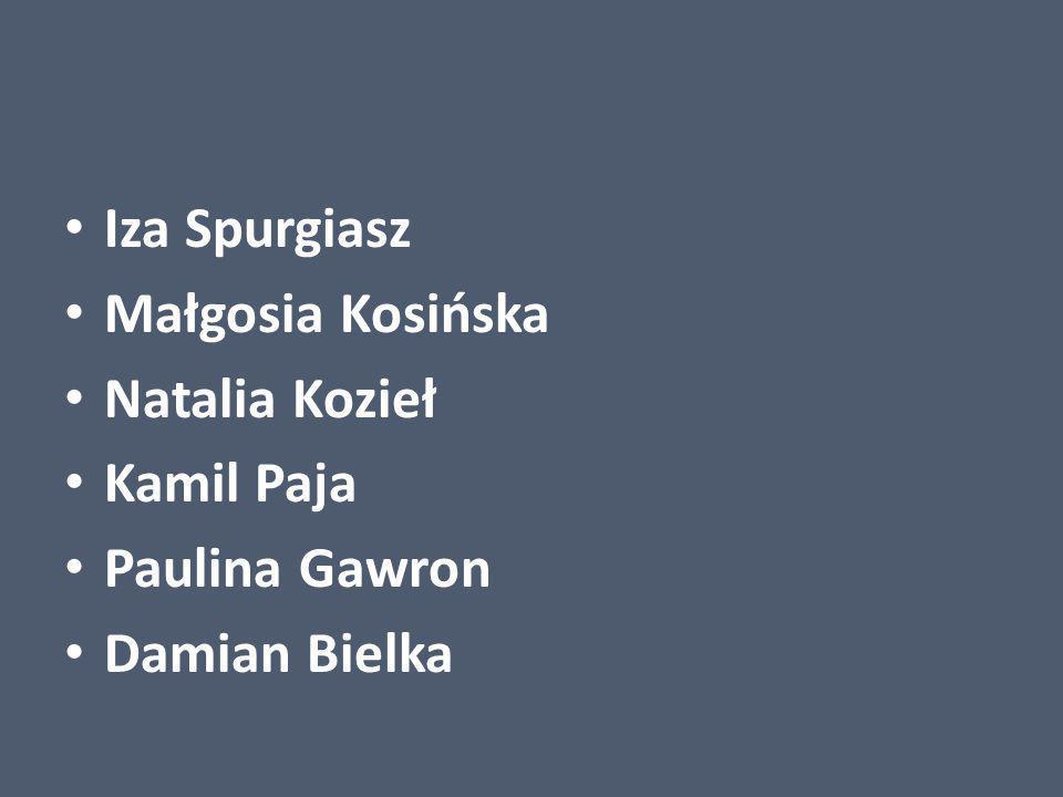 Iza Spurgiasz Małgosia Kosińska Natalia Kozieł Kamil Paja Paulina Gawron Damian Bielka