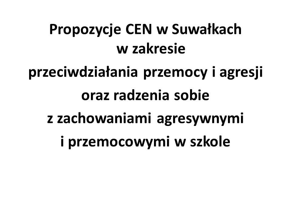 Propozycje CEN w Suwałkach w zakresie przeciwdziałania przemocy i agresji oraz radzenia sobie z zachowaniami agresywnymi i przemocowymi w szkole
