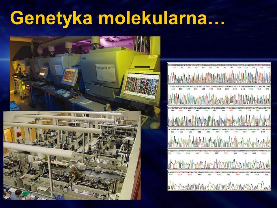 Genetyka molekularna…
