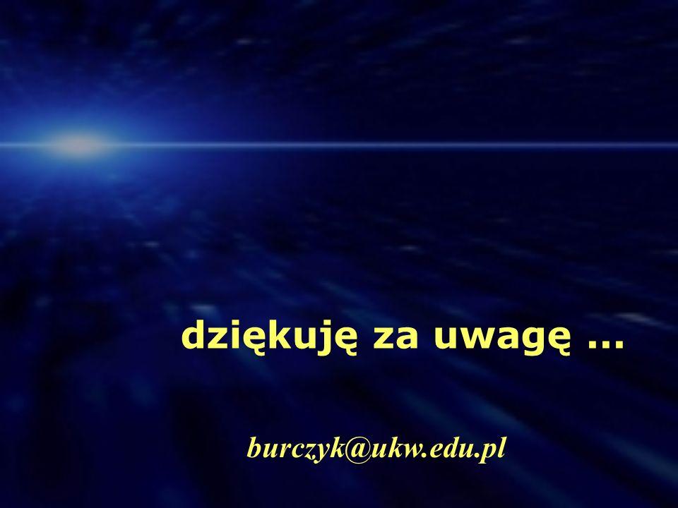 dziękuję za uwagę... burczyk@ukw.edu.pl