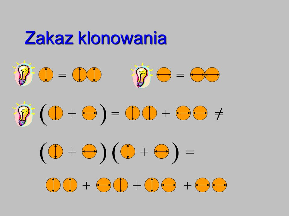 Zakaz klonowania == + )( =+= + )( + )( = +++
