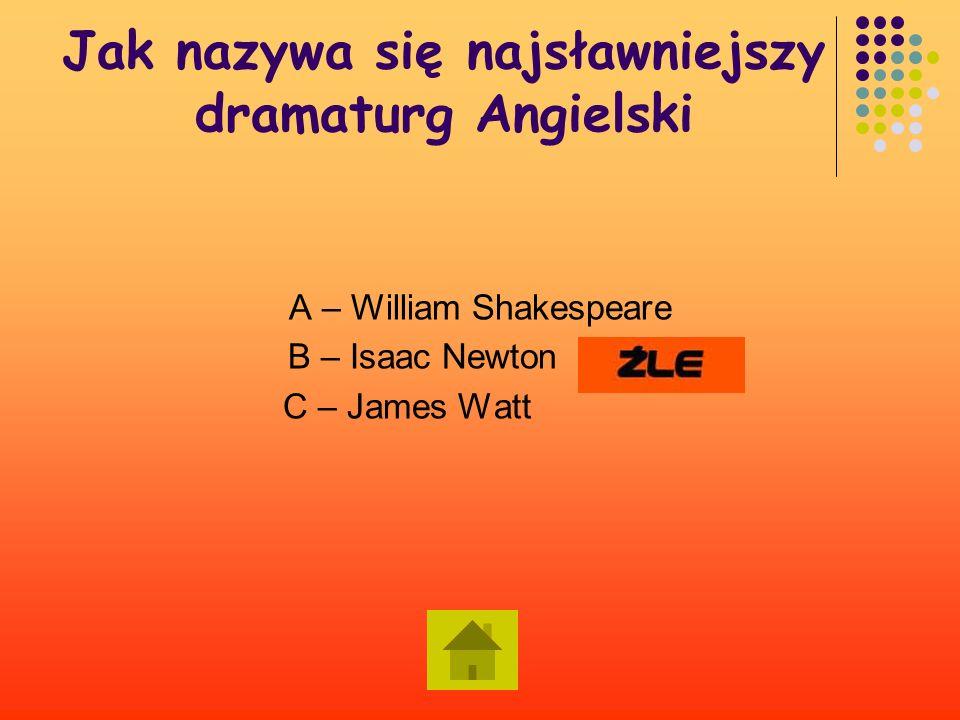 Jak nazywa się najsławniejszy dramaturg Angielski .