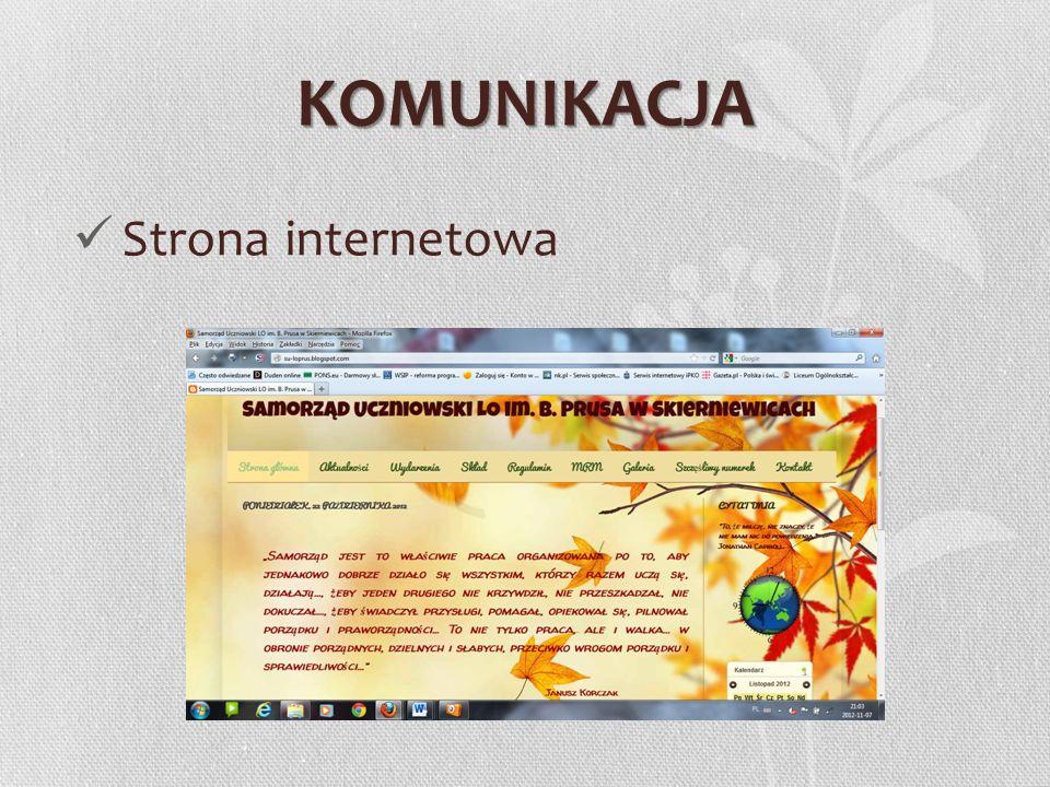 KOMUNIKACJA Strona internetowa