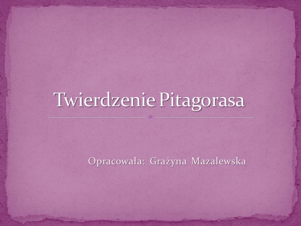 Opracowała: Grażyna Mazalewska