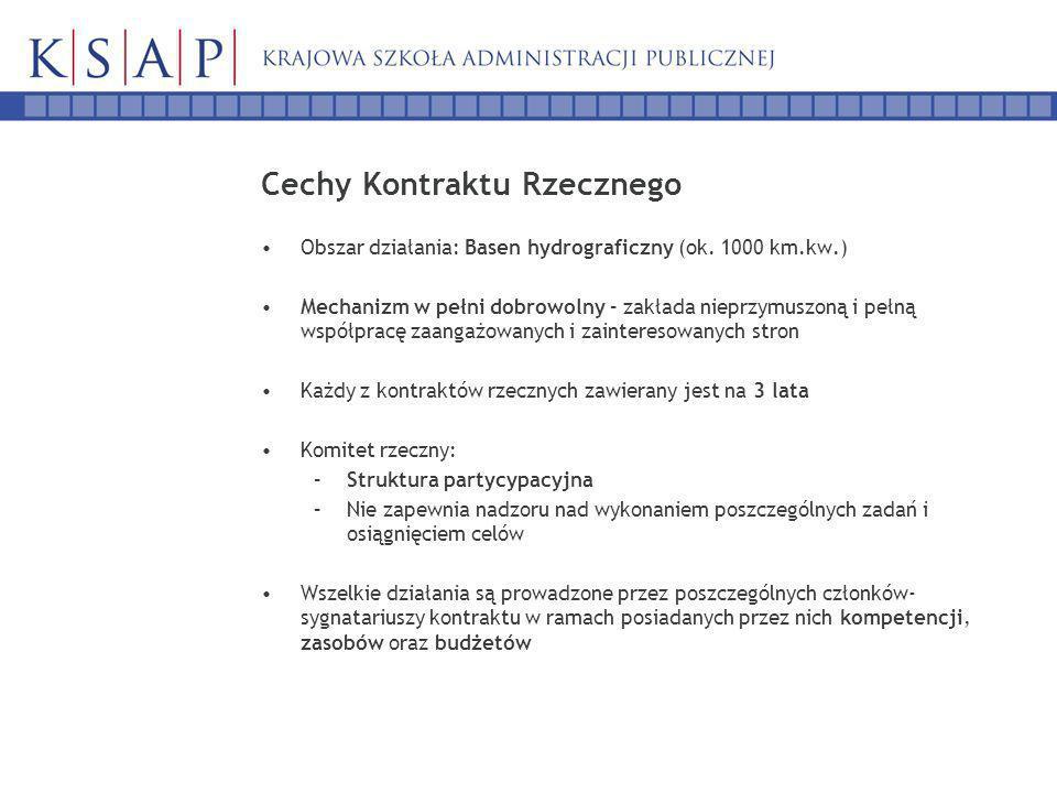 Cechy Kontraktu Rzecznego Obszar działania: Basen hydrograficzny (ok.
