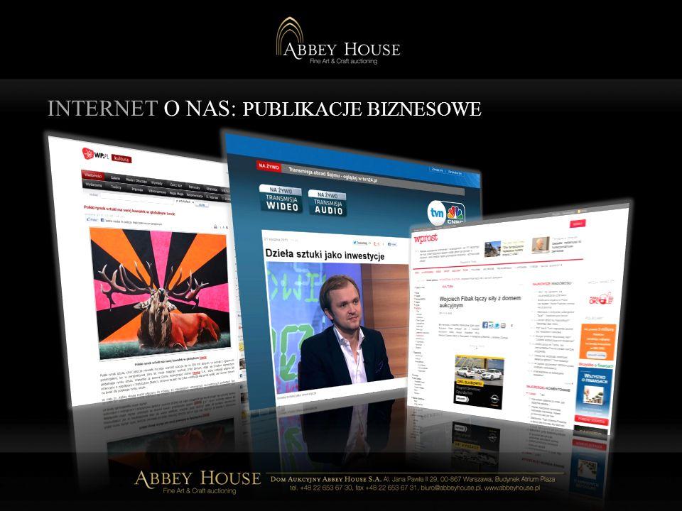 INTERNET O NAS: PUBLIKACJE BIZNESOWE