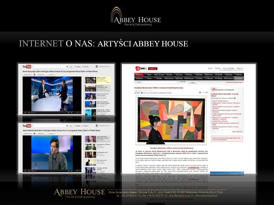 INTERNET O NAS: ARTYŚCI ABBEY HOUSE
