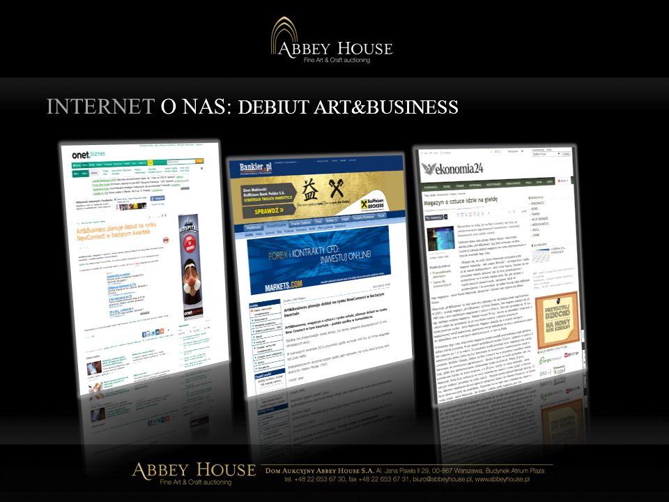 INTERNET O NAS: DEBIUT ART&BUSINESS