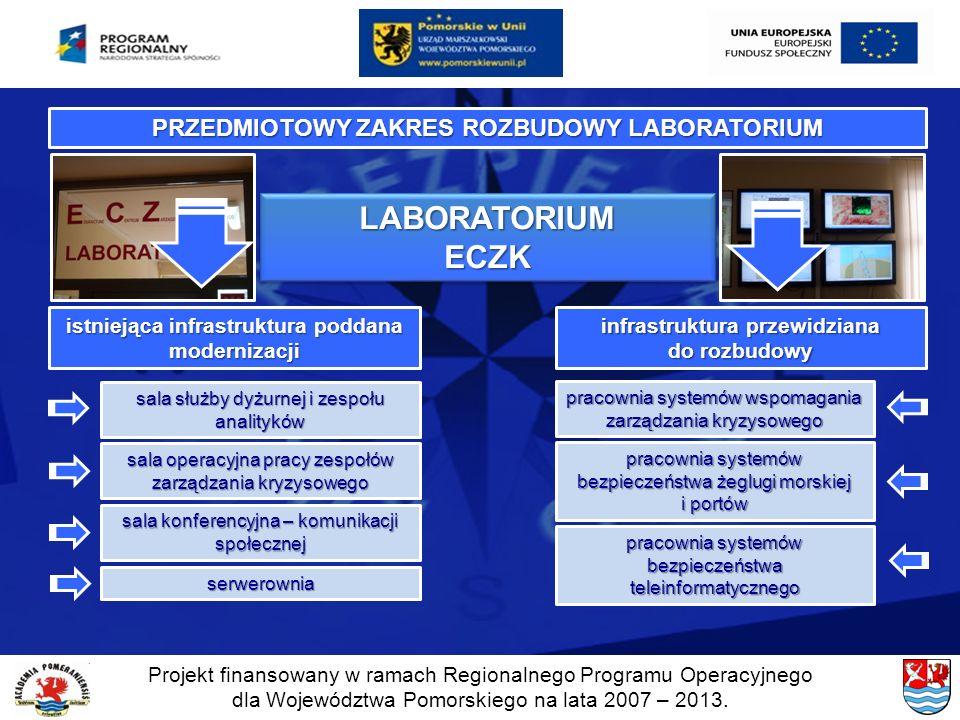 Projekt finansowany w ramach Regionalnego Programu Operacyjnego dla Województwa Pomorskiego na lata 2007 – 2013. PRZEDMIOTOWY ZAKRES ROZBUDOWY LABORAT