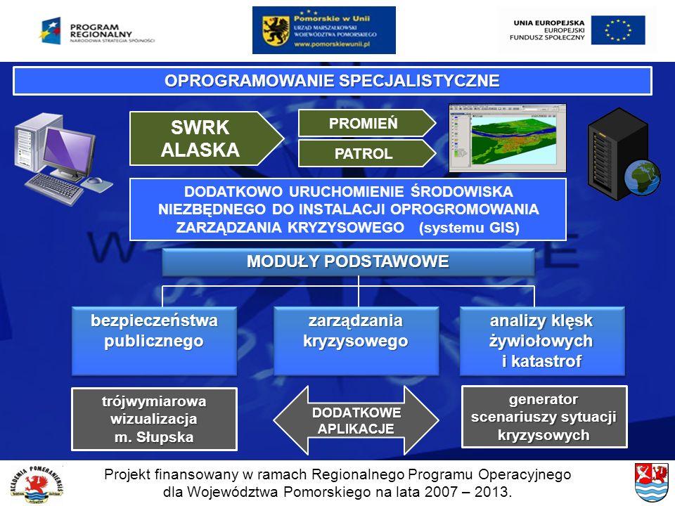 Projekt finansowany w ramach Regionalnego Programu Operacyjnego dla Województwa Pomorskiego na lata 2007 – 2013. DODATKOWO URUCHOMIENIE ŚRODOWISKA NIE