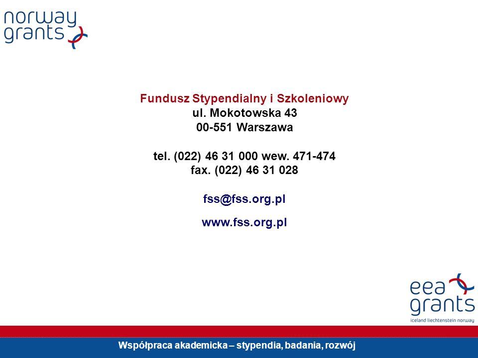 Współpraca akademicka – stypendia, badania, rozwój Fundusz Stypendialny i Szkoleniowy ul.