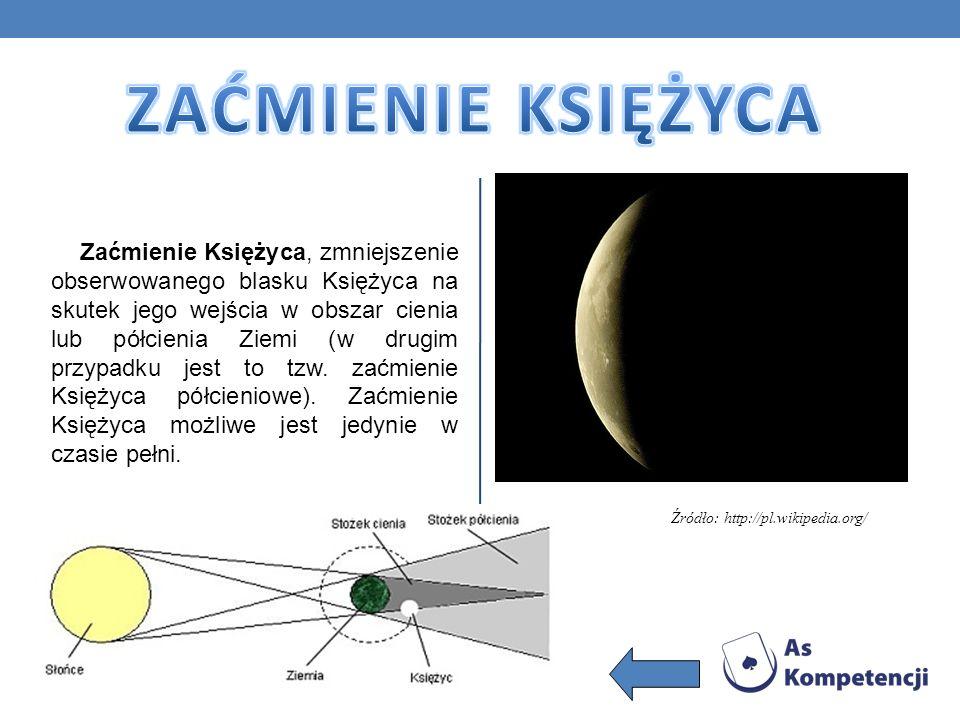 Zaćmienie Księżyca, zmniejszenie obserwowanego blasku Księżyca na skutek jego wejścia w obszar cienia lub półcienia Ziemi (w drugim przypadku jest to