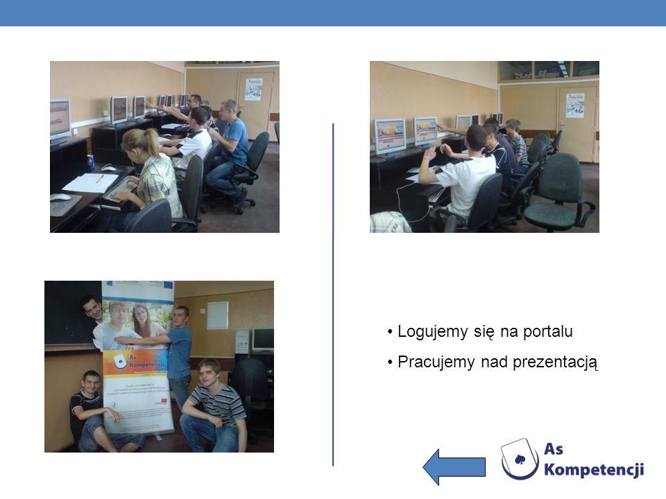 Logujemy się na portalu Pracujemy nad prezentacją