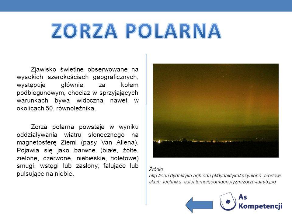 Zjawisko świetlne obserwowane na wysokich szerokościach geograficznych, występuje głównie za kołem podbiegunowym, chociaż w sprzyjających warunkach by