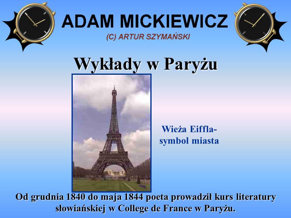 Spotkanie z Towiańskim W lipcu 1841 roku Mickiewicz poznał Andrzeja Towiańskiego i z niebywałą żarliwością stał się rzecznikiem Sprawy i naczelnikiem paryskiego Koła Towiańczyków.