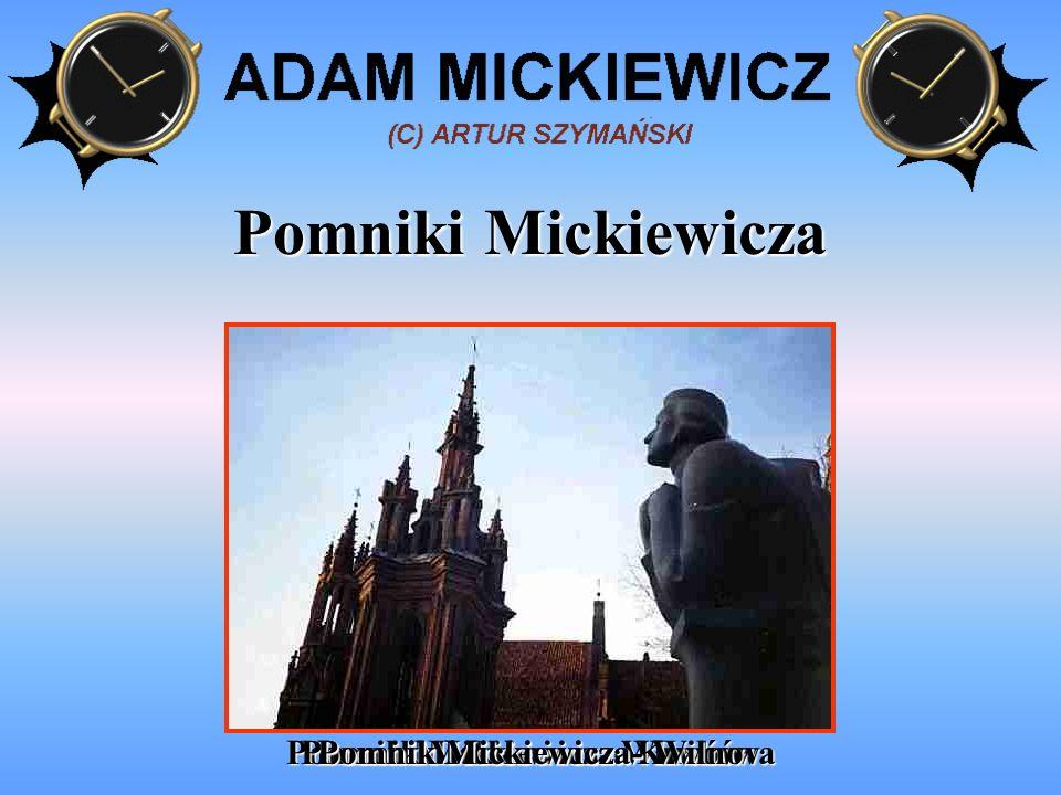 Wielki dzieła Adama Mickiewicza KONRAD WALLENRODKONRAD WALLENROD PAN TADEUSZ DZIADY