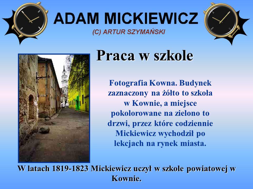 Podróże Podróże Mickiewicza po Europie Wschodniej w latach 1815-1829 Podróże Mickiewicza po Europie Zachodniej w latach 1829-1831 Dowiedziawszy się o wybuchu powstania w Polsce, Mickiewicz wyruszył w 1831 roku z Rzymu do Wielkopolski.