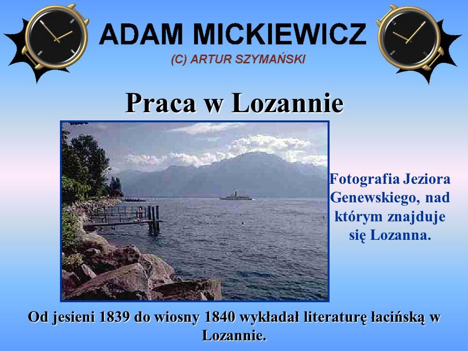 Od grudnia 1840 do maja 1844 poeta prowadził kurs literatury słowiańskiej w College de France w Paryżu.