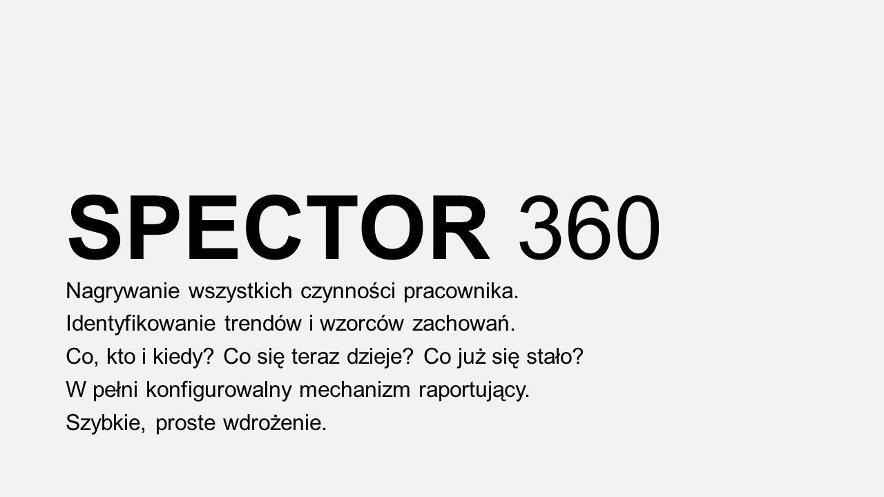 SPECTOR 360 Nagrywanie wszystkich czynności pracownika.