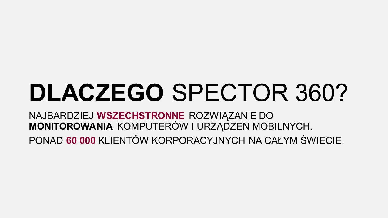 DLACZEGO SPECTOR 360.
