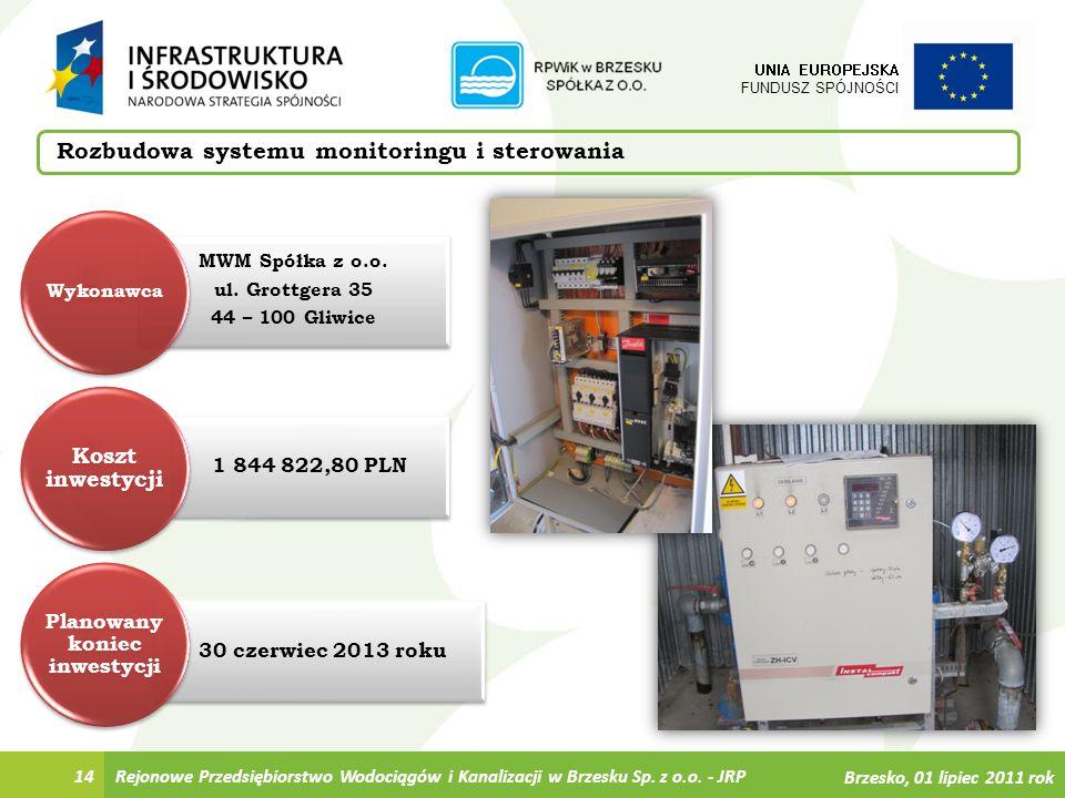 30 czerwiec 2013 roku 1 844 822,80 PLN MWM Spółka z o.o. ul. Grottgera 35 44 – 100 Gliwice Rejonowe Przedsiębiorstwo Wodociągów i Kanalizacji w Brzesk