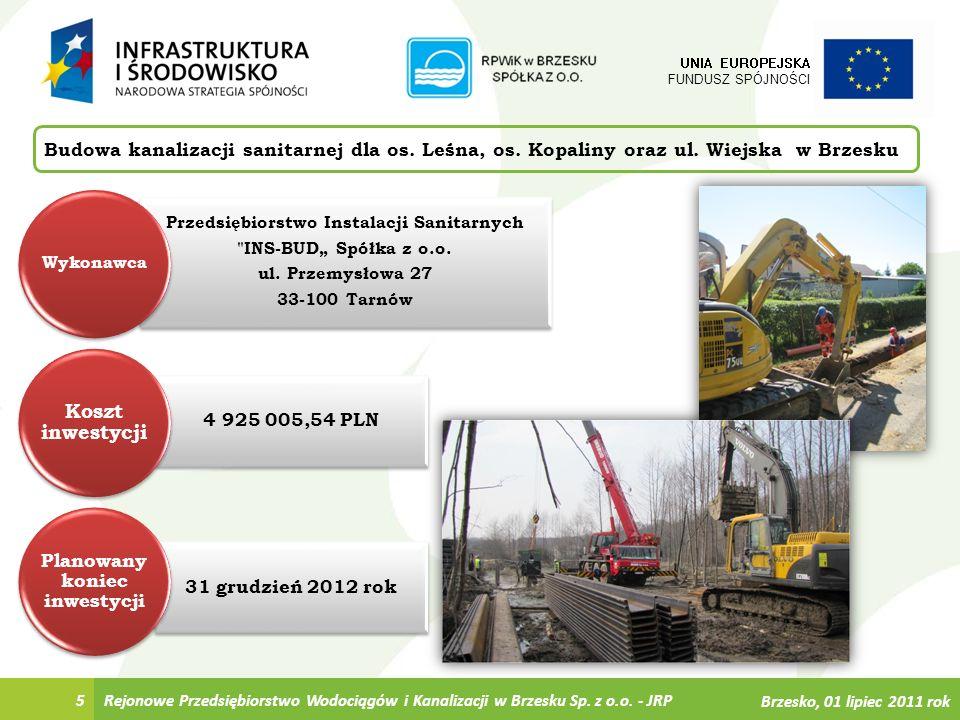 6 Budowa kanalizacji sanitarnej dla os.Leśna, os.