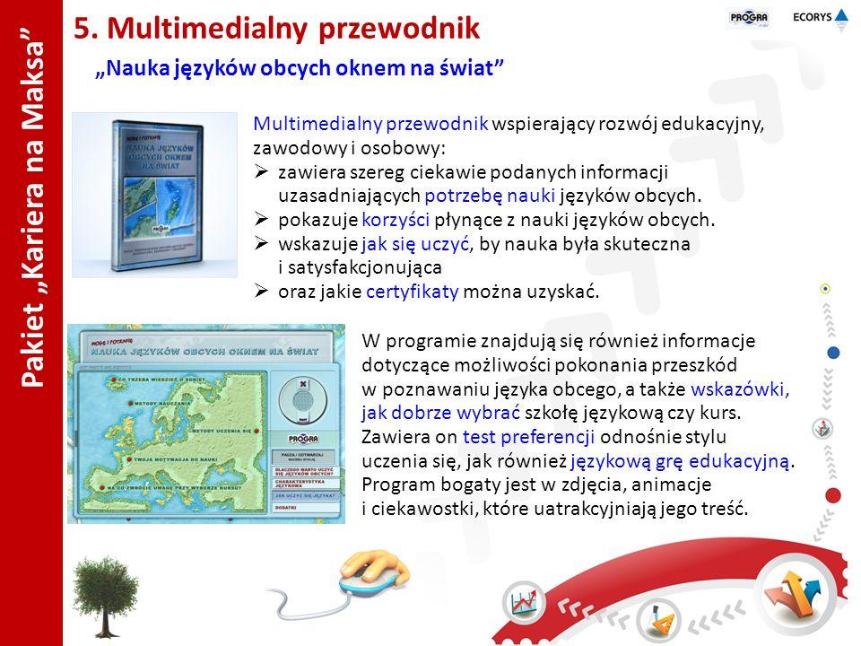 Pakiet Kariera na Maksa 5. Multimedialny przewodnik Nauka języków obcych oknem na świat Multimedialny przewodnik wspierający rozwój edukacyjny, zawodo