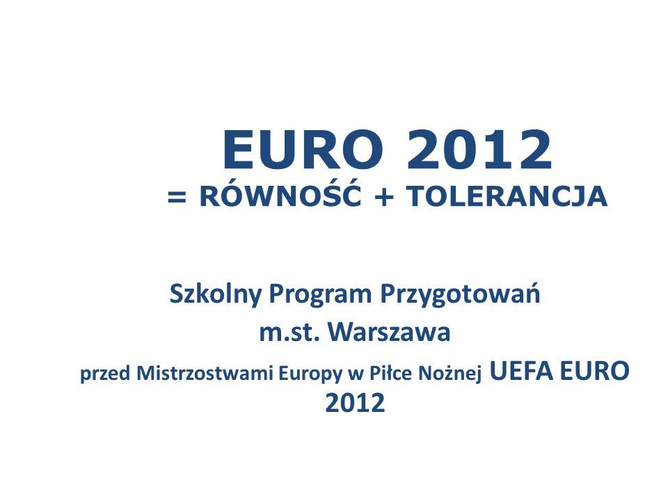 EURO 2012 = RÓWNOŚĆ + TOLERANCJA Szkolny Program Przygotowań m.st.