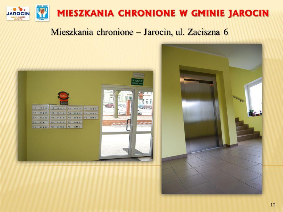 MIESZKANIA CHRONIONE W GMINIE JAROCIN Mieszkania chronione – Jarocin, ul. Zaciszna 6 19