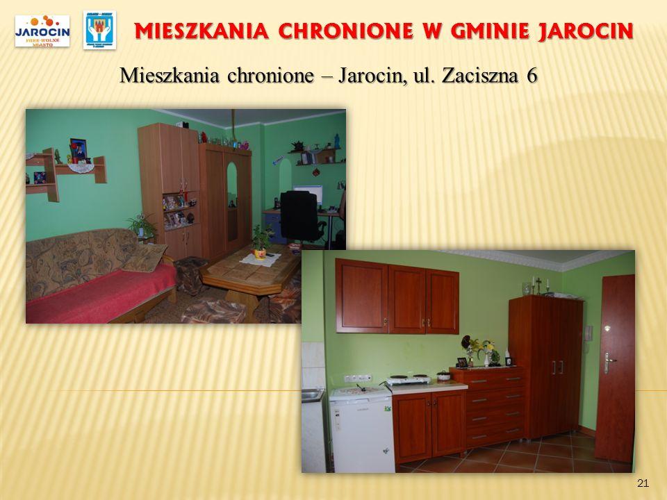 MIESZKANIA CHRONIONE W GMINIE JAROCIN Mieszkania chronione – Jarocin, ul. Zaciszna 6 21