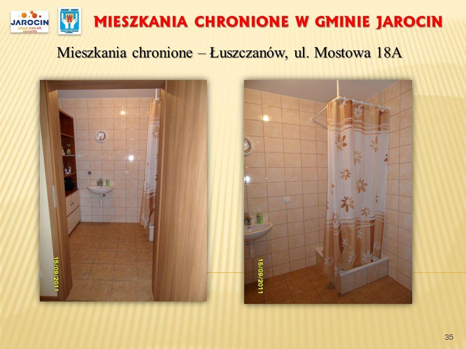MIESZKANIA CHRONIONE W GMINIE JAROCIN Mieszkania chronione – Łuszczanów, ul. Mostowa 18A 35
