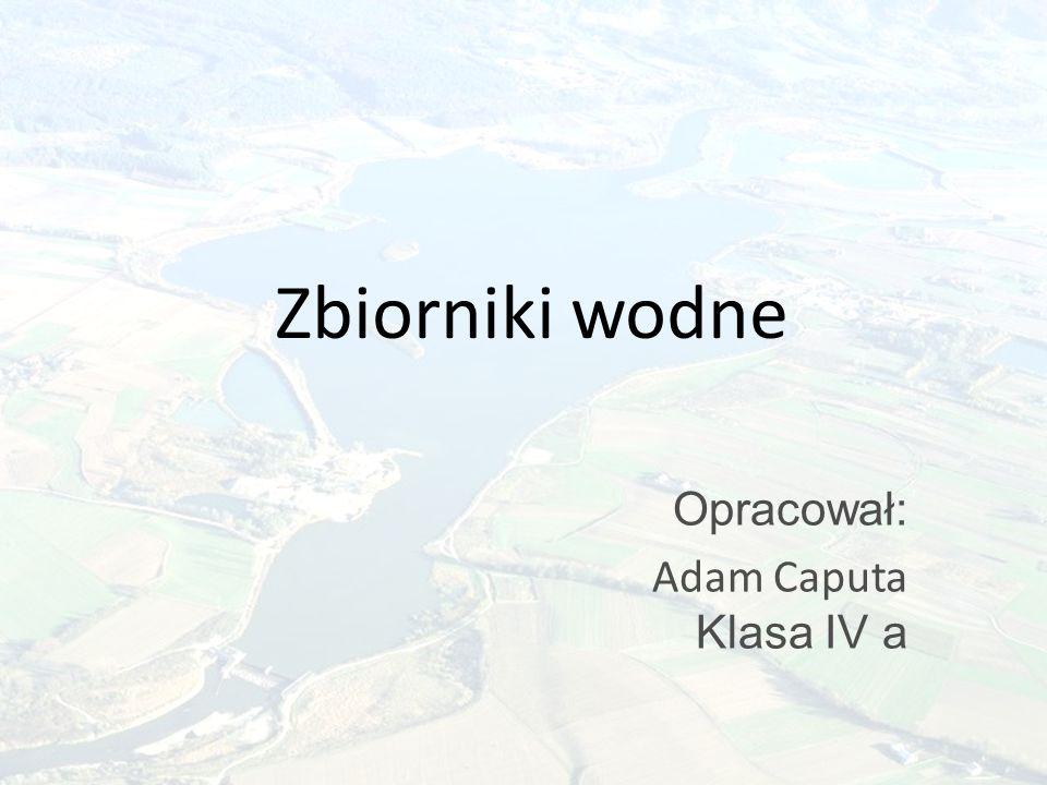Zbiorniki wodne Opracował: Adam Caputa Klasa IV a