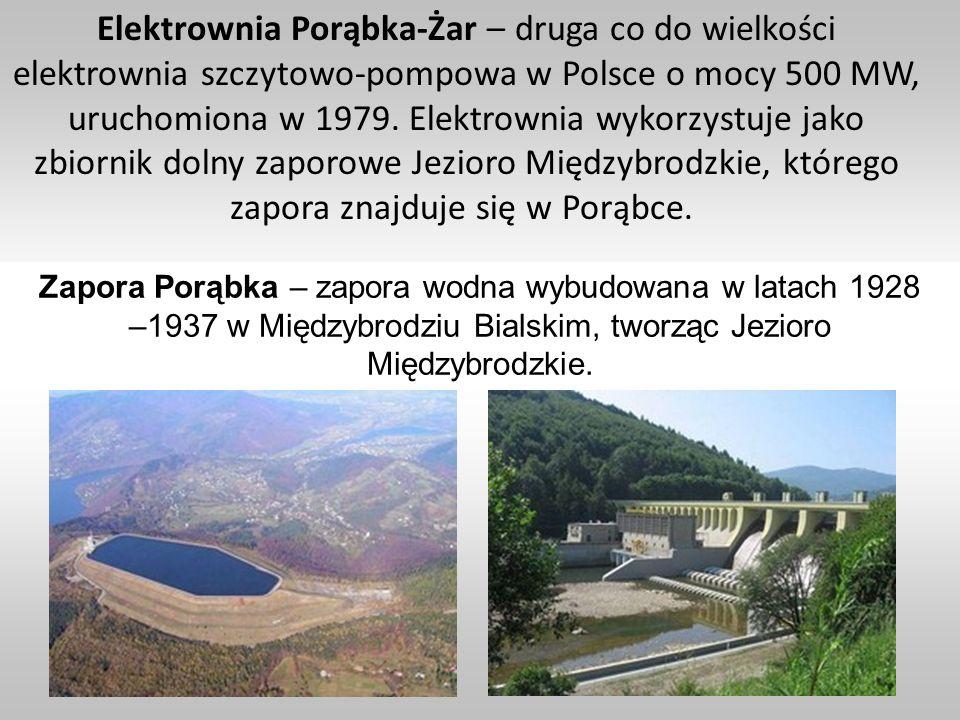 Elektrownia Porąbka-Żar – druga co do wielkości elektrownia szczytowo-pompowa w Polsce o mocy 500 MW, uruchomiona w 1979. Elektrownia wykorzystuje jak