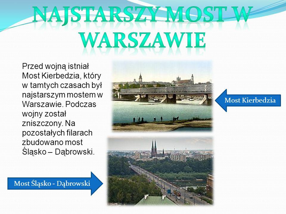 Najmłodszym Mostem w Warszawie jest most Marii Skłodowskiej- Curie ukończony w tym roku – 2012.