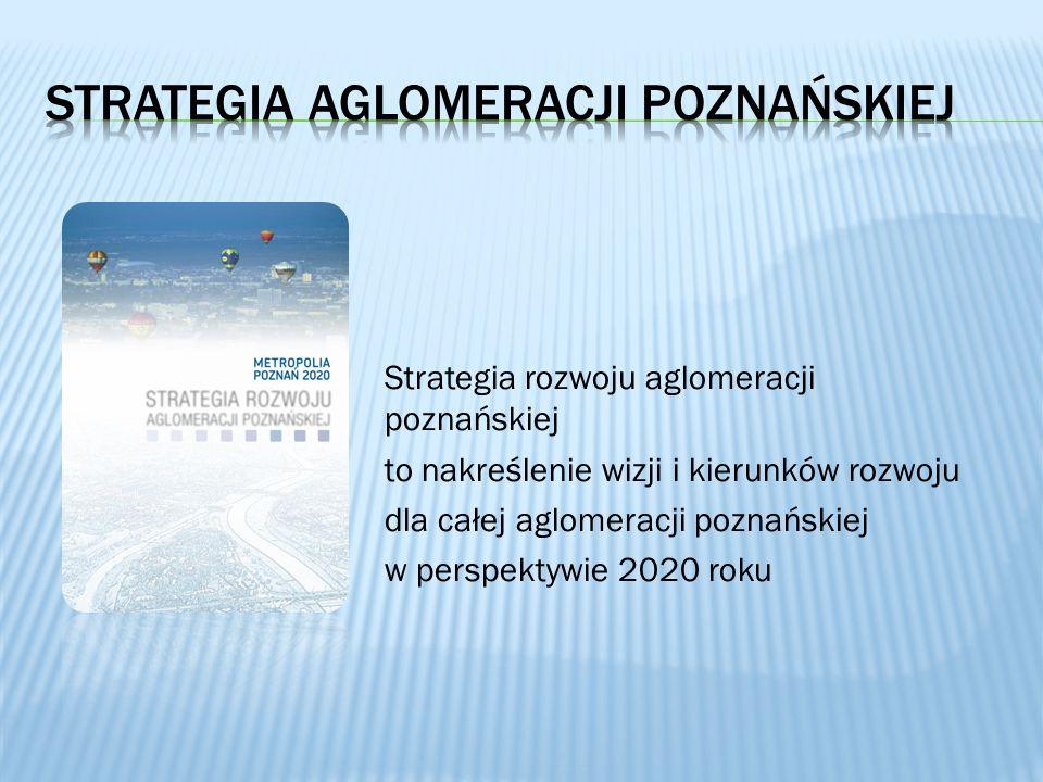 Strategia rozwoju aglomeracji poznańskiej to nakreślenie wizji i kierunków rozwoju dla całej aglomeracji poznańskiej w perspektywie 2020 roku