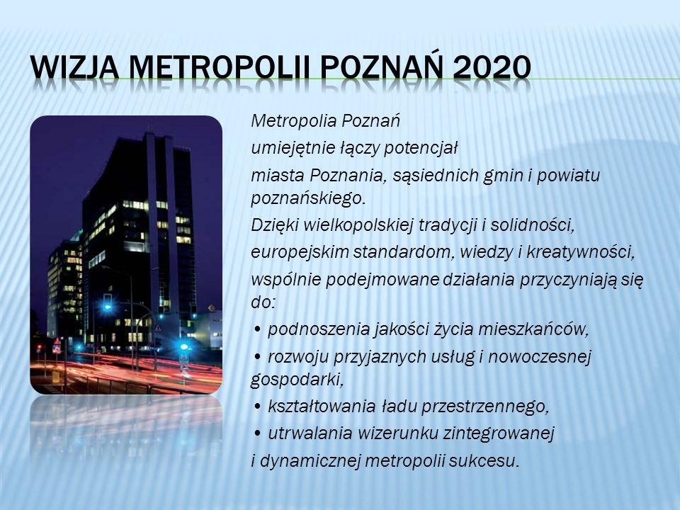 Metropolia Poznań umiejętnie łączy potencjał miasta Poznania, sąsiednich gmin i powiatu poznańskiego. Dzięki wielkopolskiej tradycji i solidności, eur
