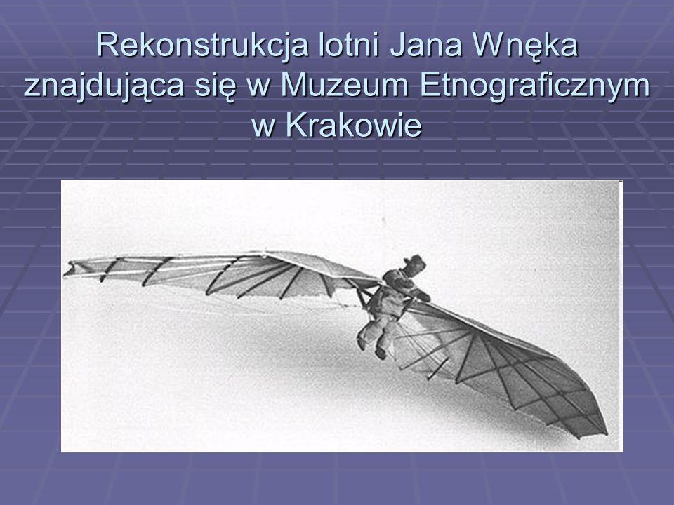 Rekonstrukcja lotni Jana Wnęka znajdująca się w Muzeum Etnograficznym w Krakowie