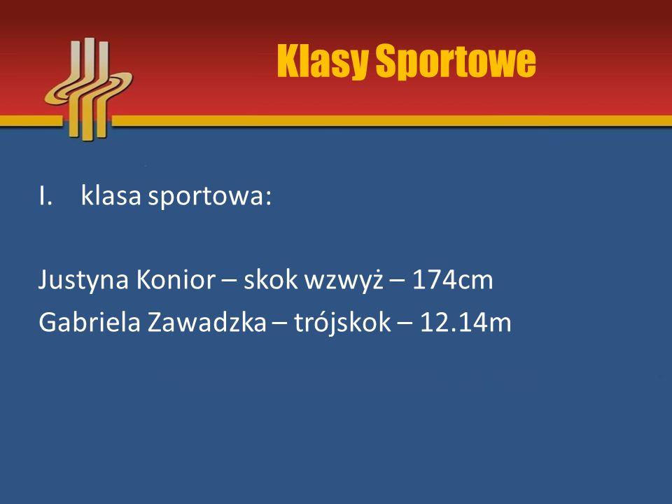 Klasy Sportowe III.klasa sportowa: II.