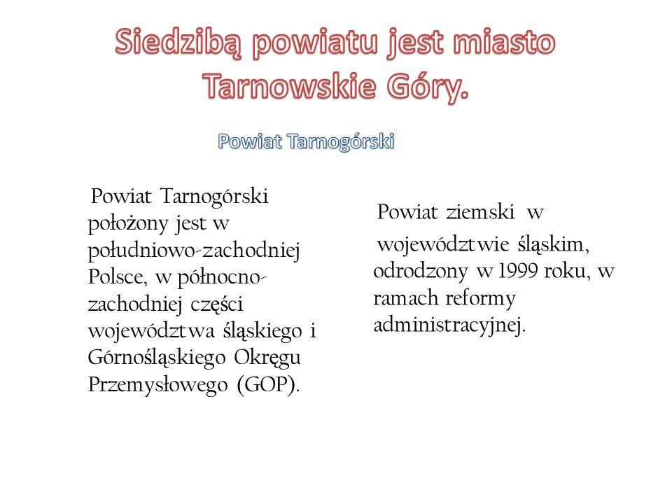 Powiat ziemski w województwie ś l ą skim, odrodzony w 1999 roku, w ramach reformy administracyjnej.