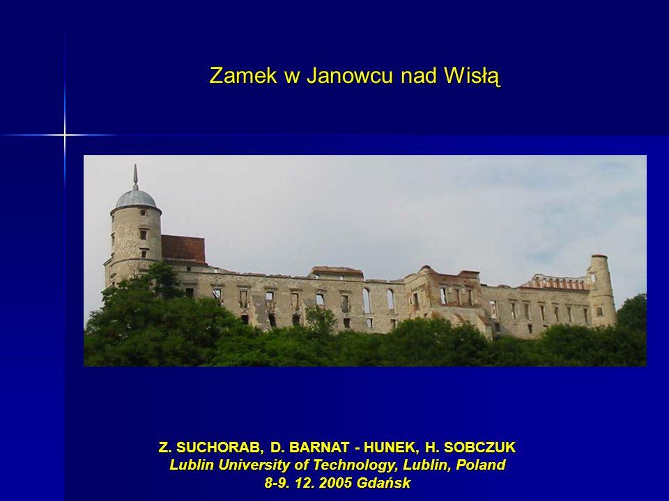 Z. SUCHORAB, D. BARNAT - HUNEK, H. SOBCZUK Lublin University of Technology, Lublin, Poland 8-9. 12. 2005 Gdańsk